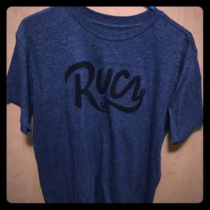 RVCA Dark Blue T-Shirt, Basic Logo